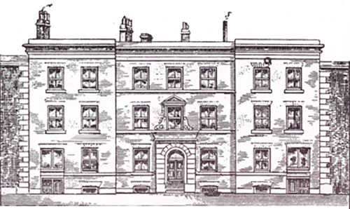 Sketch of the Manchester Mechanics' Institute in 1825