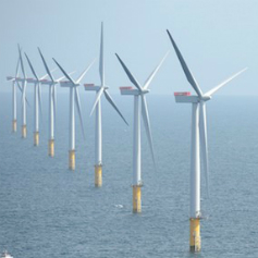 A sea-based windfarm
