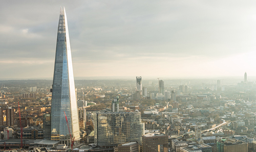 Part of the London skyline, including The Shard